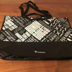 New LULULEMON 20 Year Manifesto Reusable Bag XL